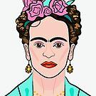 Frida Kahlo Bust Illustration by Adam Regester