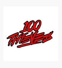 100 Thieves || RED & Black Photographic Print