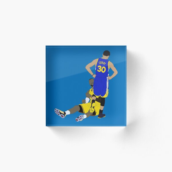Steph Curry Standing Over LeBron Acrylic Block
