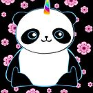 Happy Pandacorn in the Flowers by pinklioness