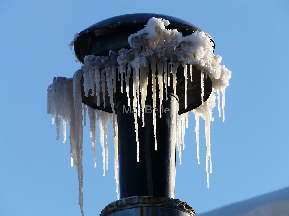 Icicles on the Stovepipe by MaeBelle