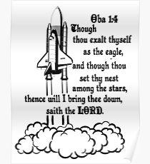 OBADIAH 1:4 STAR WARS  Poster