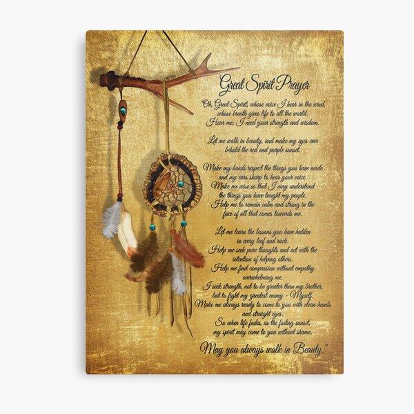 Native American Great spirit Prayer Metal Print
