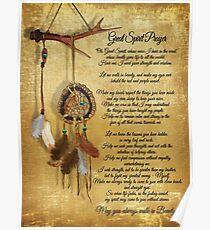 Ureinwohner-großer Geist Gebet Poster