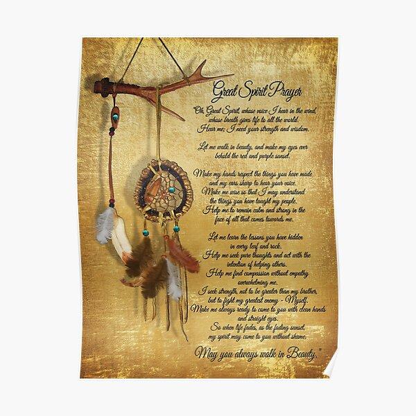 Native American Great spirit Prayer Poster