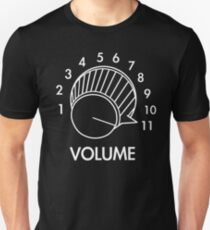 Volume Knob Up To 11 Spinal Tap Inspired Funny Guitar T-Shirt For Musicians Unisex T-Shirt