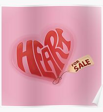 Heart For Sale - Square Print Poster