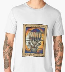 Balloon Cats (Colour version) Men's Premium T-Shirt