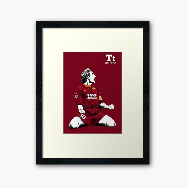 T is for Totti Framed Art Print