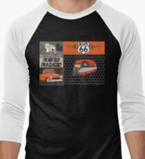 Route 66 style Living Men's Baseball ¾ T-Shirt