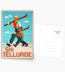 Ski Telluride Colorado Skiing Snowboarding CO Postcards