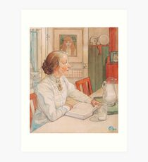 The eldest daughter of the painter 1904 Carl Larsson Art Print
