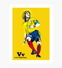 V is for Valderrama Art Print