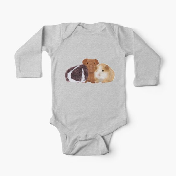 Guinea Pigs Long Sleeve Baby One-Piece
