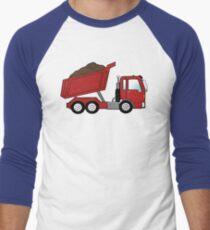 Red Construction Dump Truck Men's Baseball ¾ T-Shirt