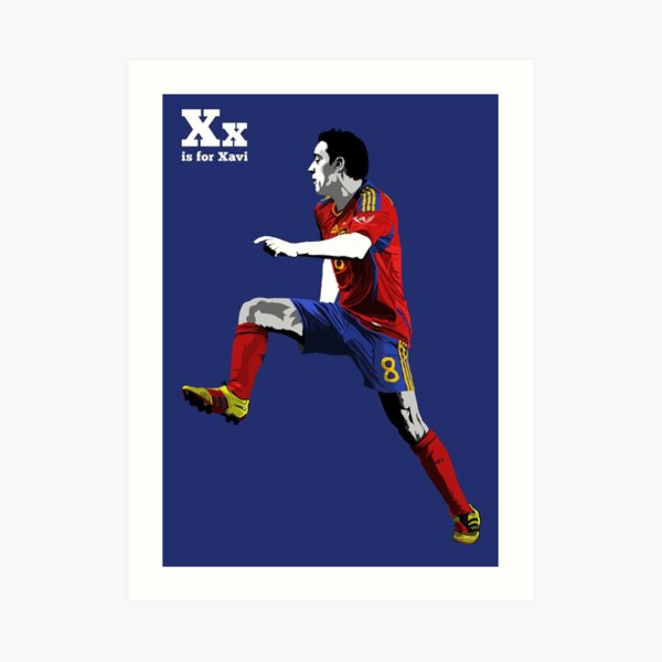 X is for Xavi Art Print