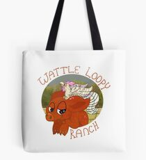 Wattle Loopy Ranch Logo Tote Bag