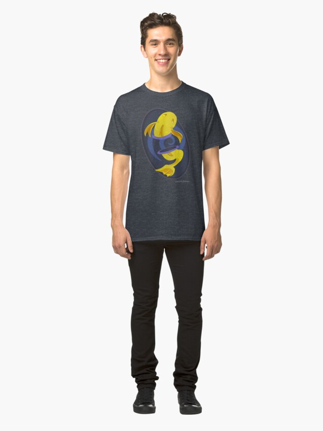 Alternate view of Cosmic Fish logo Classic T-Shirt