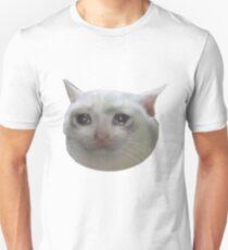 Camiseta unisex gato llorando jpg
