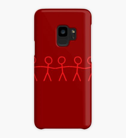 #WalkInRed People Chain Case/Skin for Samsung Galaxy