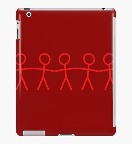 #WalkInRed People Chain iPad Case/Skin