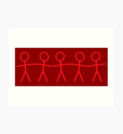 #WalkInRed People Chain Art Print