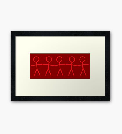 #WalkInRed People Chain Framed Print