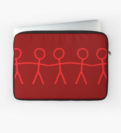 #WalkInRed People Chain Laptop Sleeve