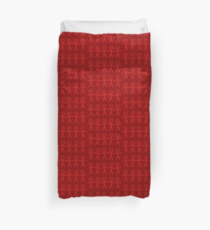 #WalkInRed People Chain Duvet Cover