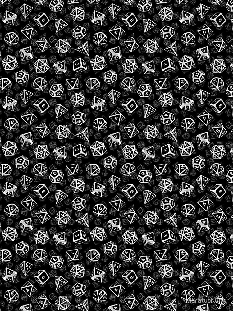 D20 Dice Set Pattern (White) by MaratusFunk