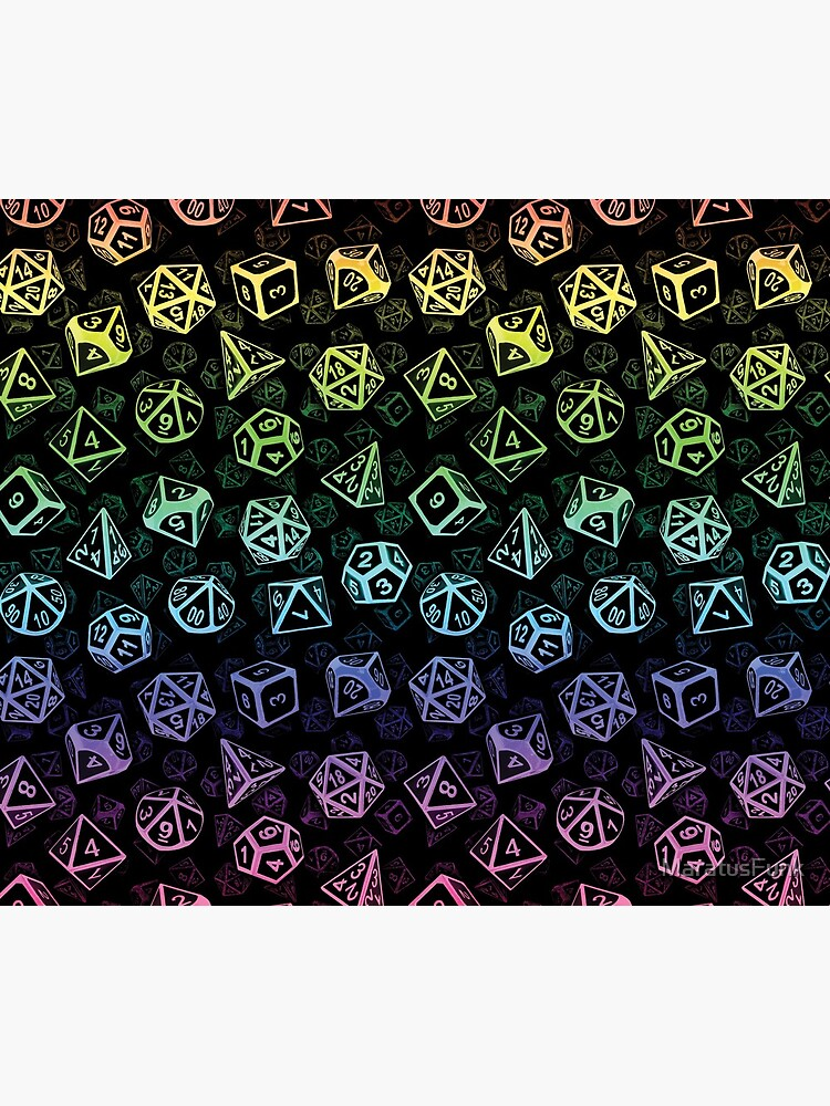 D20 Dice Set Pattern (Rainbow) by MaratusFunk