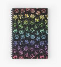Cuaderno de espiral D20 Dice Set Pattern (Rainbow)