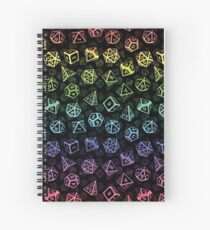 D20 Dice Set Pattern (Rainbow) Spiral Notebook
