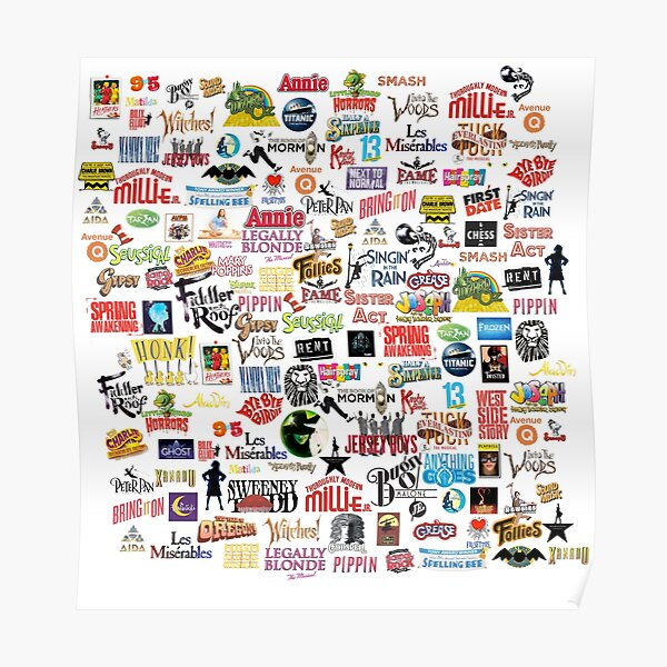 Musical Logos (Cases, Duvets, Books, Clothes etc) Poster