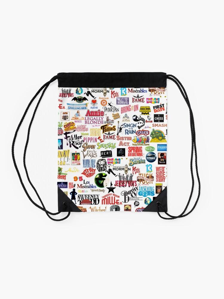Alternate view of Musical Logos (Cases, Duvets, Books, Clothes etc) Drawstring Bag