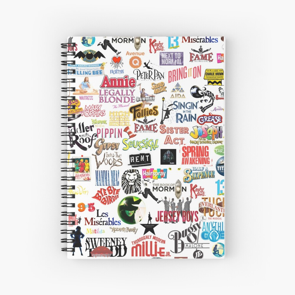 Musical Logos Spiral Notebook