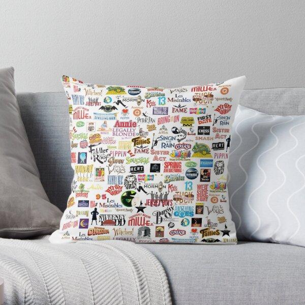Musical Logos Throw Pillow