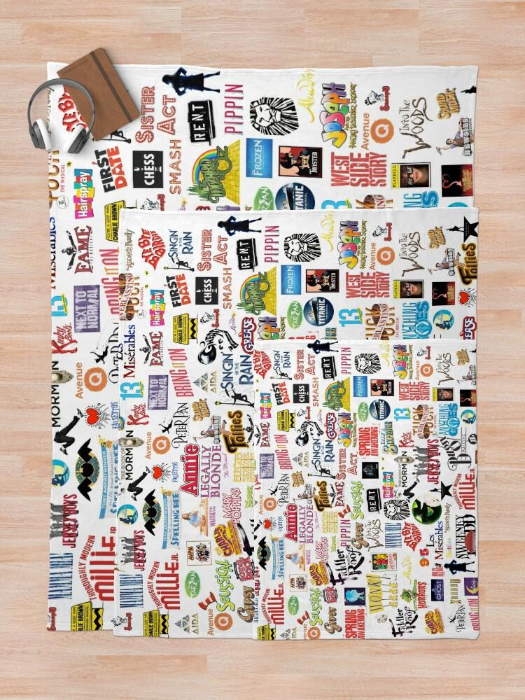 Alternate view of Musical Logos Throw Blanket