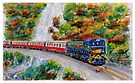 Kuranda Scenic Rail - Cairns - Watercolour by Paul Gilbert