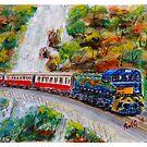 Kuranda Scenic Rail - Cairns - Watercolour by Paul Gilbert
