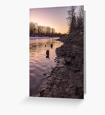 Sunset over Mohawk River Greeting Card