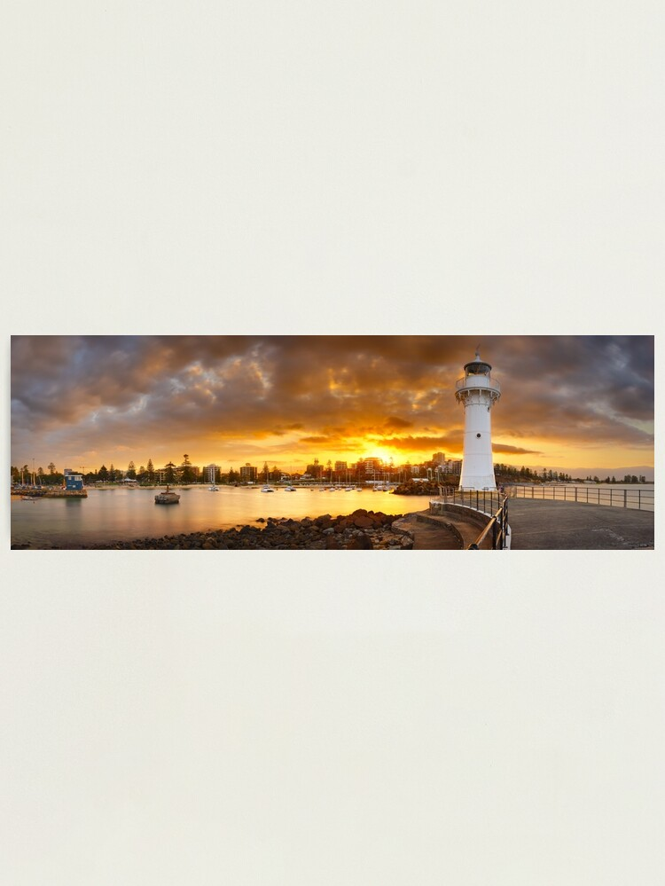 Alternate view of Wollongong Breakwater Lighthouse, New South Wales, Australia Photographic Print