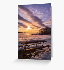 Sunset over Delta Lake Greeting Card