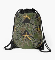 Octopus Camouflage Drawstring Bag