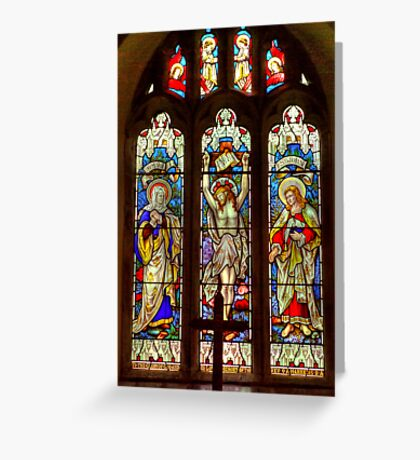 Window-All Saints Church-Hawnby Greeting Card