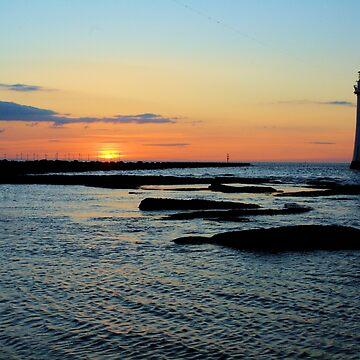 Lighthouse Sunset by Paulsr