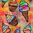 Ice Cream & Cup Cakes by johnspainart