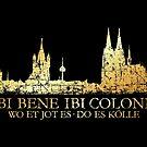 Kölner Skyline mit römischem Köln Spruch von theshirtshops