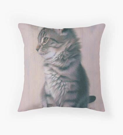 Contemplating Mischief Throw Pillow