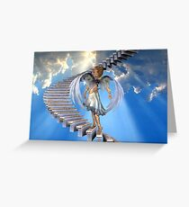 Angels .. Stairway to heaven Greeting Card